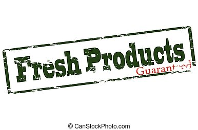 Fresh product guaranteed - Rubber stamp with text fresh...