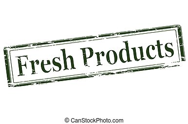 Fresh products - Rubber stamp with text fresh products...