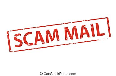Scam mail - Rubber stamp with text scam mail inside, vector...