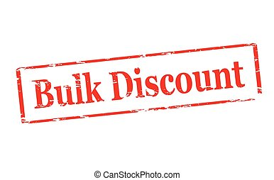 Bulk discount - Rubber stamp with text bulk discount inside,...