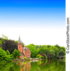 Famous Lake of Love in Bruges, Belgium - Famous Lake of Love...
