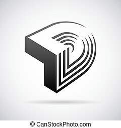 Vector logo for letter D