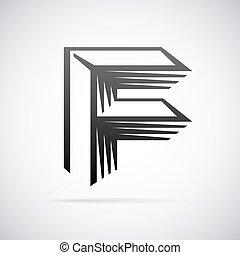 Vector logo for letter F