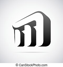Vector logo for letter M
