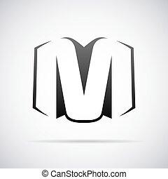 Vector logo for letter M - Logo for letter M design template...