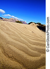 abstract yellow dune beach hil and mountain spain - abstract...