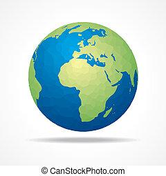 risparmiare, Terra, concetto, casato, vettore,