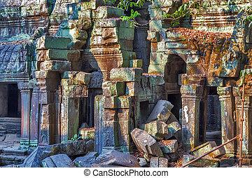 Ruins Angkor Wat, Khmer temple complex, Asia Siem Reap,...