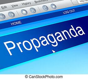 Propaganda concept. - Illustration depicting a computer...