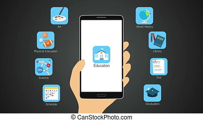 Education apps for smart phone. - Education application...