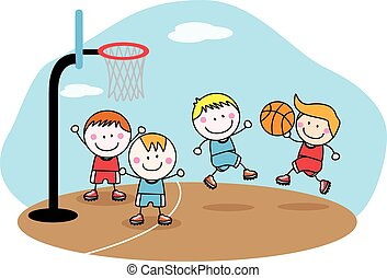 playing basket ball