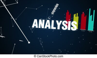 Text animation INVESTMENT - Statistics, Analysis, Logical...
