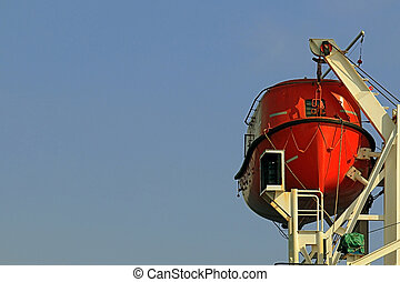 lifeboat - the lifeboat in the davits of a ship