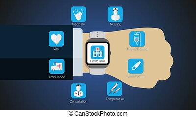 Health application for smart watch - Health care application...