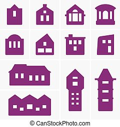 Building icons - Set of Building icons