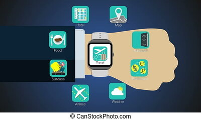 Travel application for smart watch - Travel application...