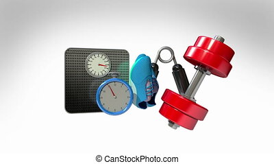 Measuringtape and Fitness equipment - Measuring tape wrapped...