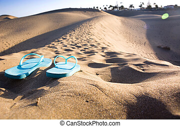 summer shoes on dune