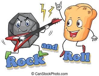 Rock and roll with facial expression