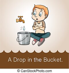 Idiom saying a drop in the bucket
