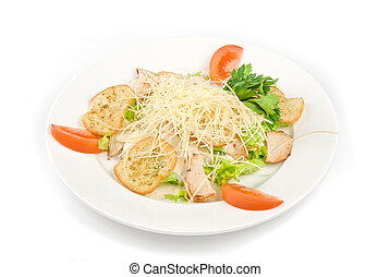Tasty Salad dish isolated on a white background