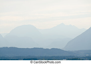 Alps mountains - Haze between the Alps mountains in fall...