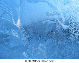 Frost texture - Frosty natural pattern on window glass