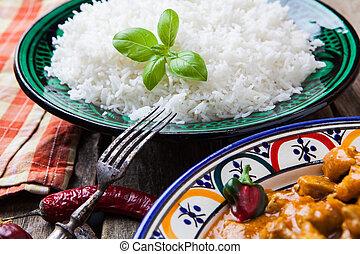 Basmati rice - Chicken curry tikka masala with basmati rice...