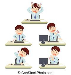 office syndrome - office man working hard officesyndrome