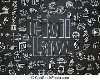 Law concept: Civil Law on School Board background - Law...