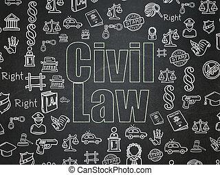 Law concept: Civil Law on School Board background - Law...