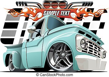 Cartoon Lowrider - Vector cartoon Lowrider Available EPS-10...