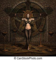 Vampire Hunter - Halloween Figure - 3D Render of an Vampire...