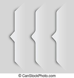 EPS10 paper cutout curly bracket shadows - illustration for...
