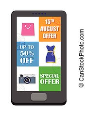 Independence Day of India sale offer in mobile application -...