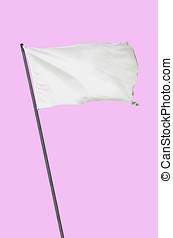 White flag pink