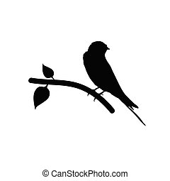 sparrow black vector silhouette