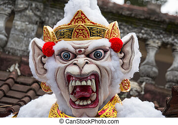 Balinese ogoh-ogoh monster at Balinese New Year , Indonesia....