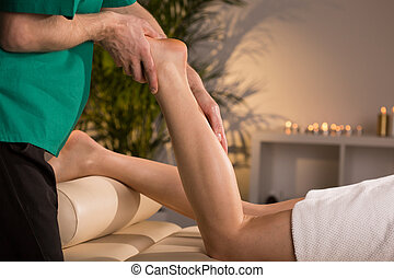 Therapy with elements of reflexology - Therapy that includes...