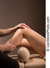 Therapeutic knee massage - Therapeutic massage performed to...