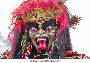 Balinese ogoh ogoh monster at Balinese New Year , Indonesia....