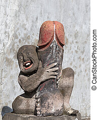 Erotic sculpture in Bali, Indonesia - Erotic sculptures on...