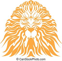 Vector - lion tattoo vector