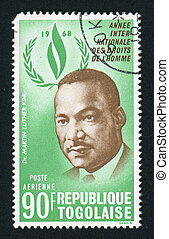 postmark - TOGO - CIRCA 1968: Martin Luther King was an...
