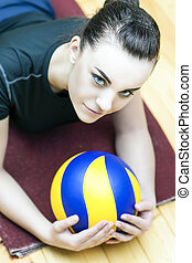 Smiling Caucasian Volleyball Player