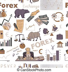 Colored finance forex hand drawing pattern - Colored finance...