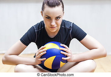 Sportive Volleyball Player