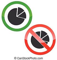 Diagram permission signs set