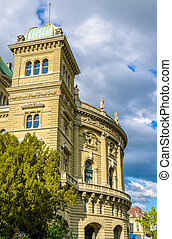 View of the Bundeshaus in Bern, Switzerland