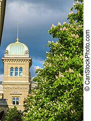 View of the Bundeshaus in Bern, Switzerland